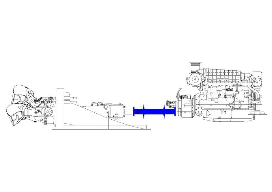 Bild på Axel och motor Model